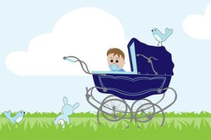 kombikinderwagen 3 in 1 baby illustration kinderwwagen www.kombikinderwagen-3in1.de