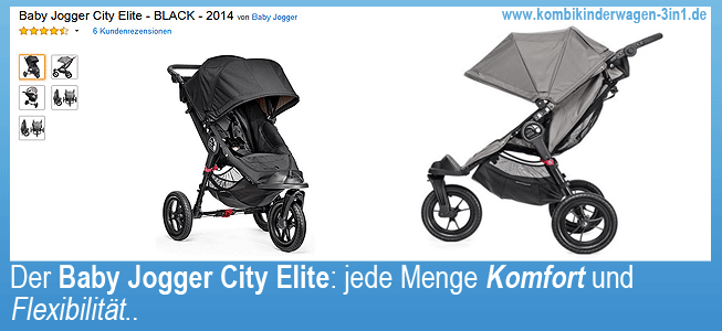 buggy zum joggen baby jogger city elite ii ii. Black Bedroom Furniture Sets. Home Design Ideas